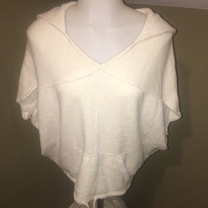 American Eagle Women Poncho Hooded Sweatshirt SZ S